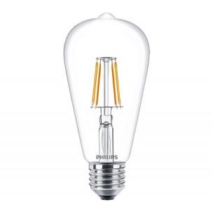 Philips LED filament lamp E27 7.5W (60W) classic