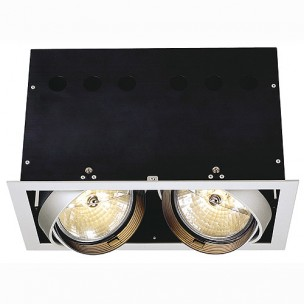 SLV 115114 Aixlight Pro 2 Frame QRB111 zilvergrijs inbouwspot