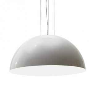 Design hanglamp rond 180cm hoogglans wit