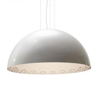 Design hanglamp rond 100cm decor / hoogglans wit