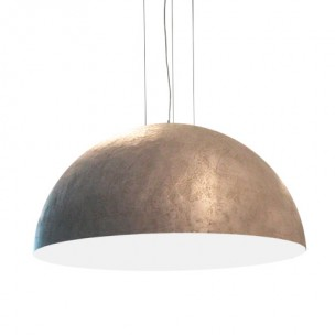 Design hanglamp rond 140cm metaallook ruw