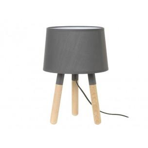 Leitmotiv LM1039 Orbit wood tafellamp grijs