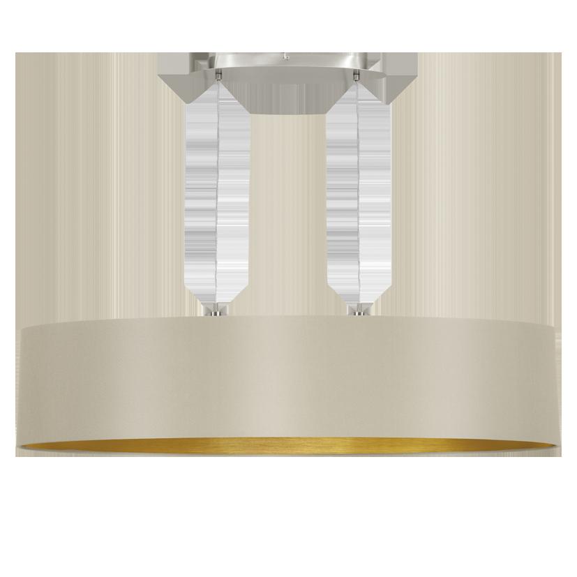 Home u00bb 31618 Eglo Maserlo taupe / goud hanglamp