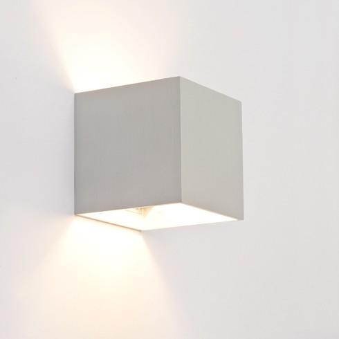 Design wandlamp vierkant alu 15306 for Design wandlamp