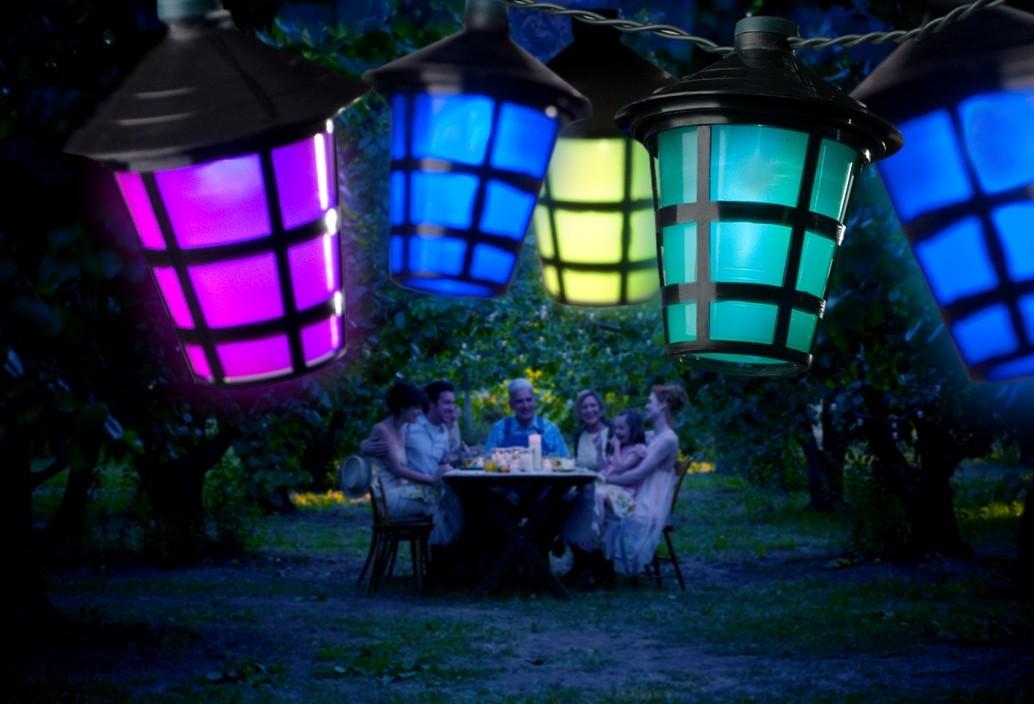 Led Lichtsnoer 20 Gekleurde Lantaarns Zwart 4162 500 Konstsmide Feestverlichting