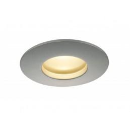 SLV 114464 Out 65 round hoogvolt LED zilvergrijs inbouwspot