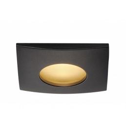 SLV 114470 Out 65 square hoogvolt LED zwart inbouwspot