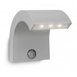 Philips Riverbank 163568716 zilvergrijs Ledino Outdoor wandlamp sensor