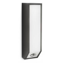 Philips Feather 169339316 antraciet sensor Ecomoods Outdoor wandlamp