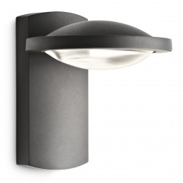 Philips Freedom 172389316 antraciet Ledino Outdoor wandlamp