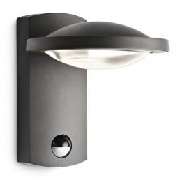 Philips Freedom 172399316 antraciet sensor Ledino Outdoor wandlamp