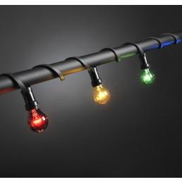 Konstsmide 2328-510 prikkabel 10 gekleurde lampen feestverlichting