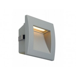 SLV 233604 Downunder Out LED S zilvergrijs wand inbouwspot