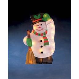 Konstsmide 2851-000 raamfiguur sneeuwpop 20 kerstverlichting binnen