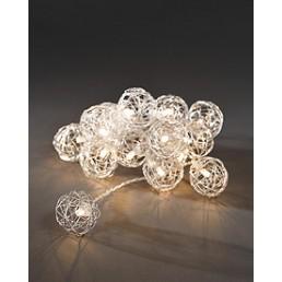 Konstsmide 3176-103 Led deco lichtsnoer 16 balletjes batterij kerstverlichting