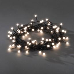 Konstsmide 3691-107 Led lichtsnoer 80 bolletjes warmwit kerstverlichting