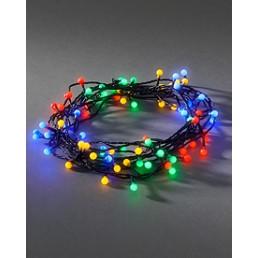 Konstsmide 3691-507 Led lichtsnoer 80 bolletjes multicolor kerstverlichting