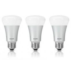 3 stuks Hue led lamp E27 10W Philips actie