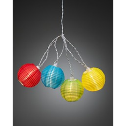 Konstsmide 4160-502 Led lichtsnoer gekleurde lampions feestverlichting