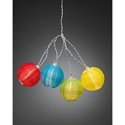 Konstsmide 4161-502 Led lichtsnoer gekleurde lampions feestverlichting