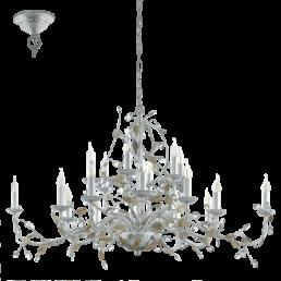 49828 Eglo Flitwick 1 Vintage hanglamp zilver