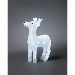 Konstsmide 6152-203 Led acryl rendier koelwit 40 kerstverlichting buiten