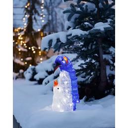 Konstsmide 6169-203 Led acryl pinguin met jong kerstverlichting buiten