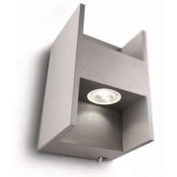 Philips Ledino Metric 690878716 led wandlamp alu grijs