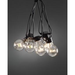 Konstsmide 2398-100 LED Basisset Lichtsnoer 10-lamps peer helder koppelbare feestverlichting