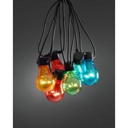 Konstsmide 2398-500 LED Basisset Lichtsnoer 10-lamps peer multicolor koppelbare feestverlichting