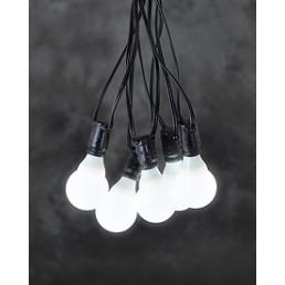 Konstsmide 4641-107 LED Lichtsnoer 10 witte bollampen koppelbare feestverlichting