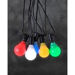 Konstsmide 4641-507 LED Lichtsnoer 10 multicolor bollampen koppelbare feestverlichting