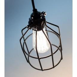 Lichtlab No.15 Kooi zwart industriële hanglamp