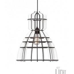Lichtlab No.19 Industriële hanglamp Wit MDF