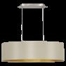 31613 Eglo Maserlo taupe / goud hanglamp