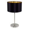 31627 Eglo Maserlo zwart / goud tafellamp