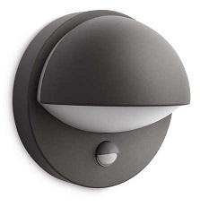 Buitenlamp met sensor Philips June antraciet
