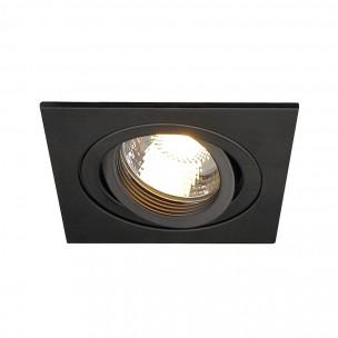 Actie SLV 113491 New Tria 1 GU10 square zwart inbouwspot