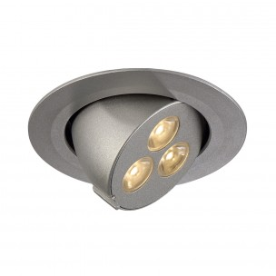 SLV 113612 Triton zilver 3 Gimble LED warmwit inbouwspot
