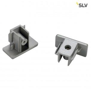 SLV 143132 1-Fase eindkapjes (set van 2) zilvergrijs