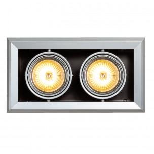 SLV 154022 Aixlight MOD 2 QRB111 zilvergrijs inbouwspot