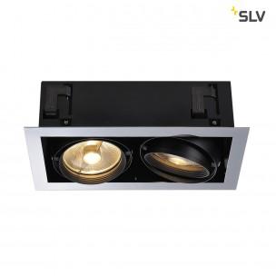 SLV 154612 Aixlight Flat double ES111 chroom inbouwspot
