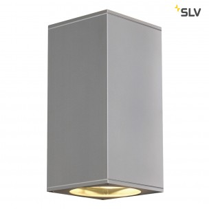 SLV 229574 Big Theo Up en Down out zilvergrijs wandlamp buiten