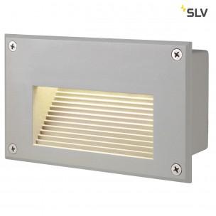 SLV 229702 Brick LED Downunder zilvergrijs led warmwit wand inbouwspot