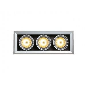SLV 154032 Aixlight MOD 3 QRB111 zilvergrijs inbouwspot