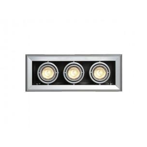 SLV 154132 Aixlight Mod 3 MR16 zilvergrijs inbouwspot