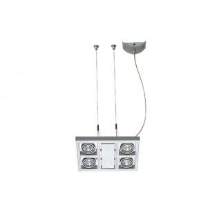 SLV 154232 Aixlight Square MR16 zilvergrijs hanglamp