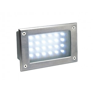 SLV 229121 Brick LED 24 koelwit edelstaal wand inbouwspot