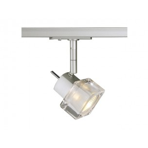 SLV 143502 Blox GU10 zilvergrijs 1-fase railverlichting