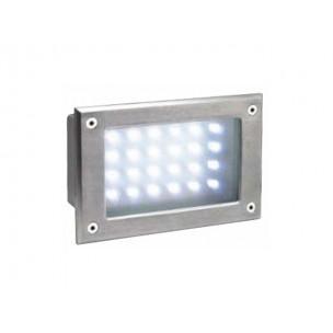 SLV 229122 Brick LED 24 warmwit edelstaal wand inbouwspot